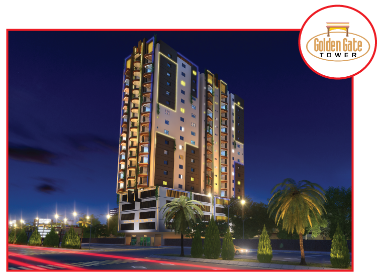 Golden gate tower - North Nazimabad block M | Frontline Marketing