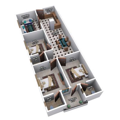 GOLDENGATE TOWER | 5 ROOMS INTERNAL PLAN