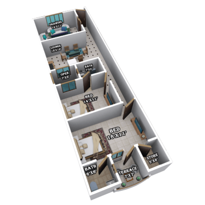 GOLDENGATE TOWER | 4 ROOMS INTERNAL PLAN